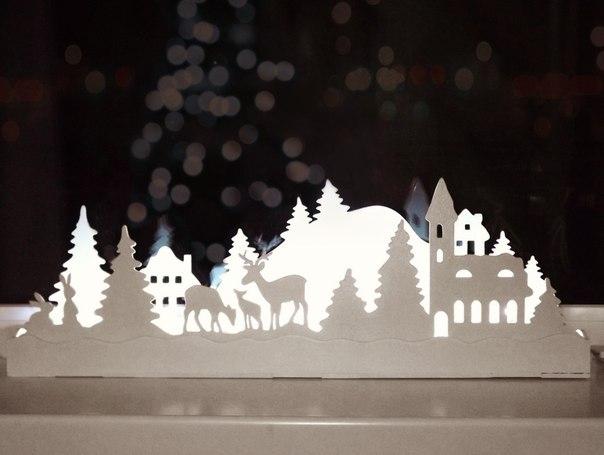 Светильник на окно из бумаги